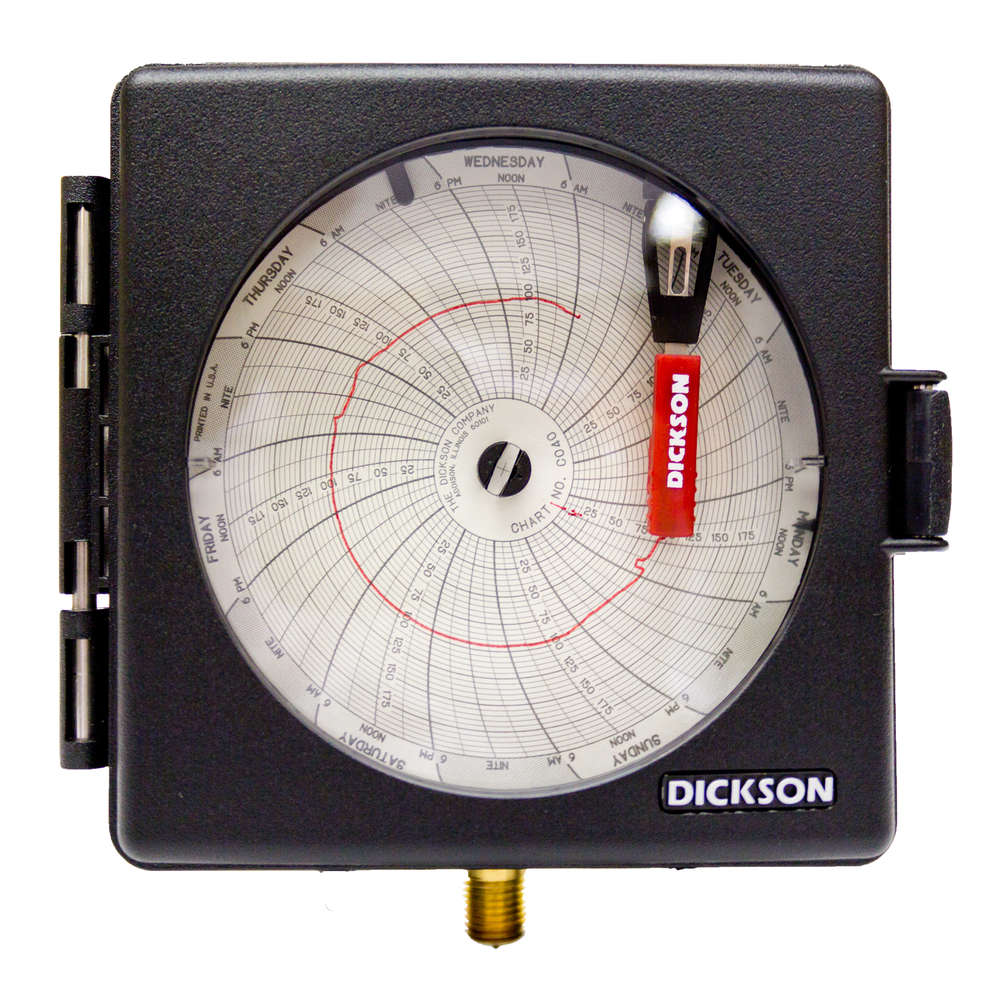4 20ma Digital Chart Recorder : Pw quot mm pressure chart recorder from dickson