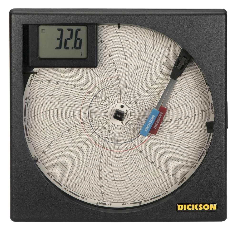 "ET855 8"" (203mm) Universal Input Chart Recorder From Dickson"