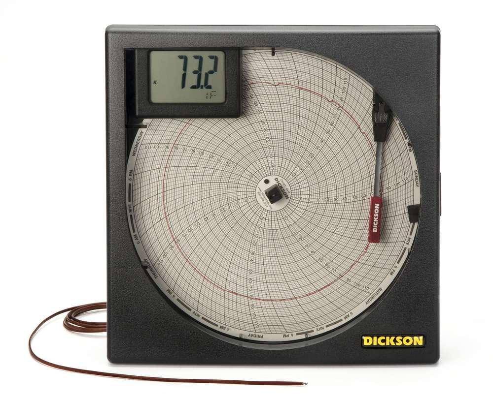 Kt803 8 203mm temperature circular chart recorder from dickson